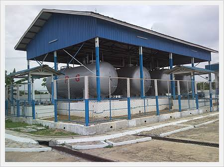 Setup cooking gas plant
